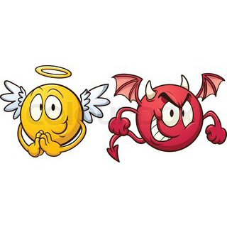 Facebook Emoticons: Angel and Demon | Angels & Demons