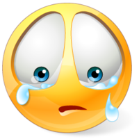 Facebook IM Emoticons: Crying and Sad Face