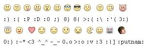 Shortcuts for Facebook Emoticons