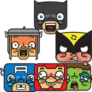 Superhero Facebook Chat Emoticons