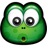Facebook Green Monster Wonder Chat Sticker
