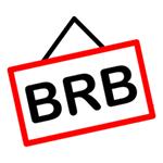 BRB Facebook Chat Sticker