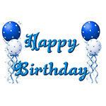 Happy Birthday with Balloons Facebook Chat Sticker
