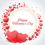 Facebook Chat Sticker of Happy Valentine's Day
