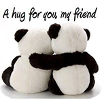 Hug for a Friend Chat Sticker