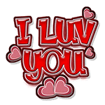 I Luv You Quote Chat Sticker