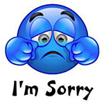 I'm Sorry Facebook Chat Sticker