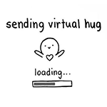 Sending Virtual Hug Chat Sticker